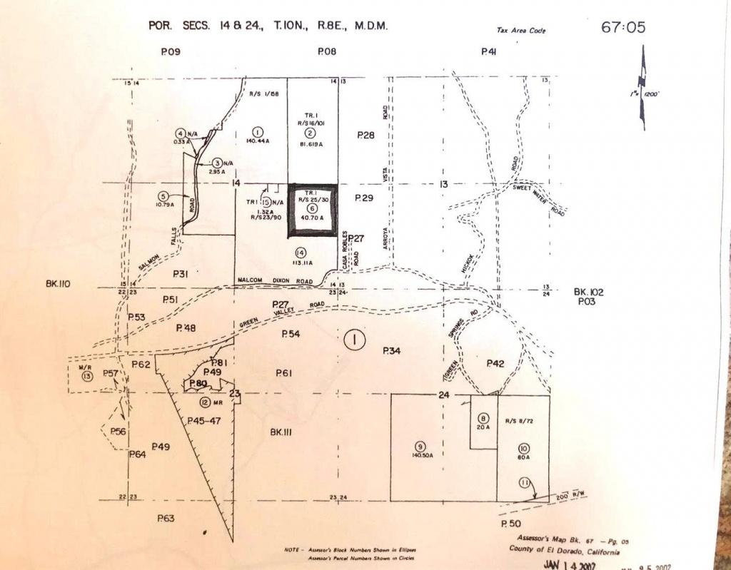 0 Malcolm Dixon, El Dorado Hills, Ca 95762 ~ Open Listings - El Dorado County California Parcel Maps