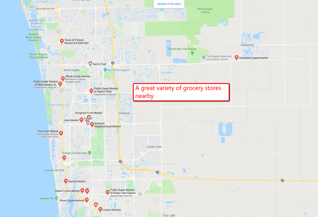 1.14 Acre Residential Lot For Sale Naples Florida - Further Reduced - Golden Gate Estates Naples Florida Map