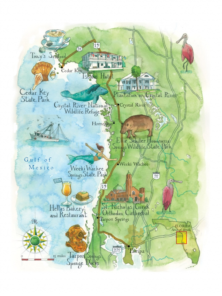 10 Spots To Scope Out On A Road Trip Through West Central Florida - Central Florida Springs Map