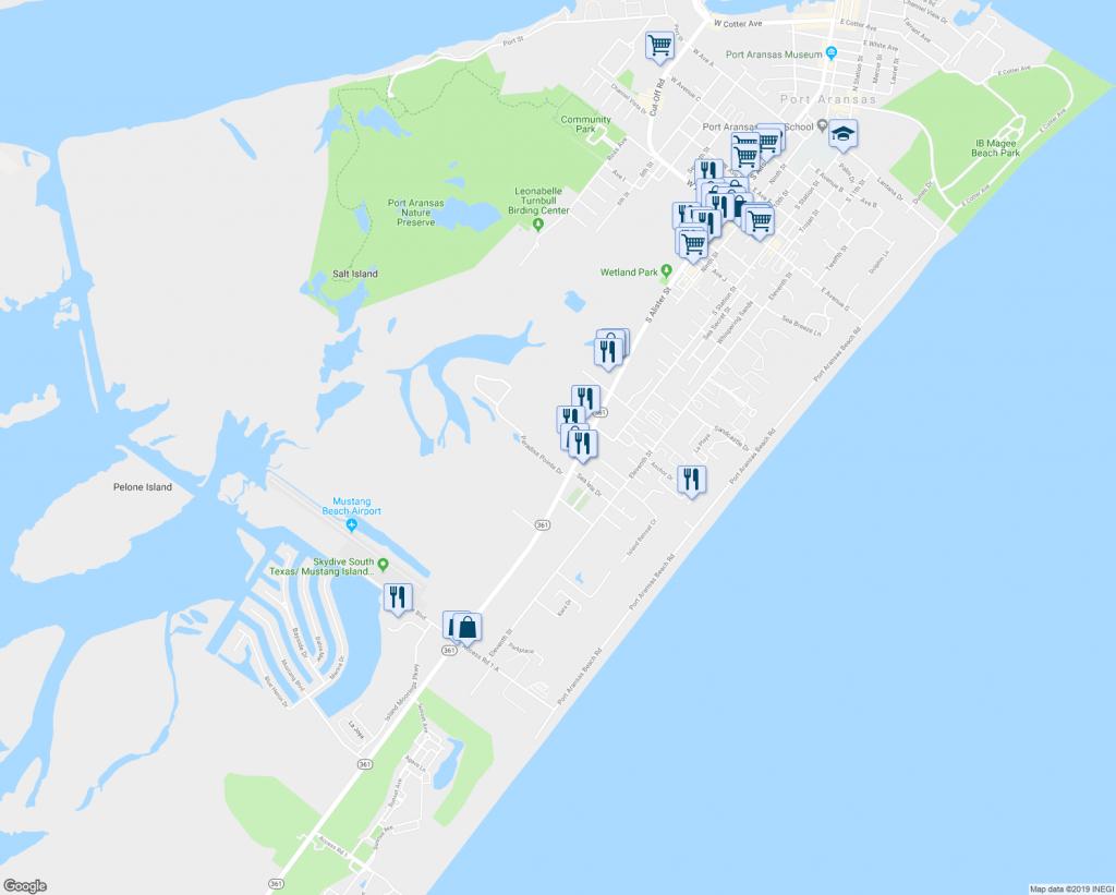 100+ Aransas Tx Map – Yasminroohi - Google Maps Port Aransas Texas