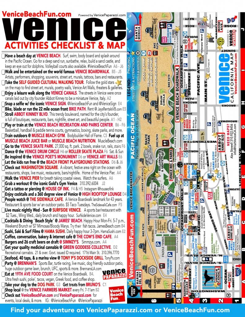 100+ Things To Do In Venice Beach – Venice Paparazzi | Venice Beach - California Things To Do Map