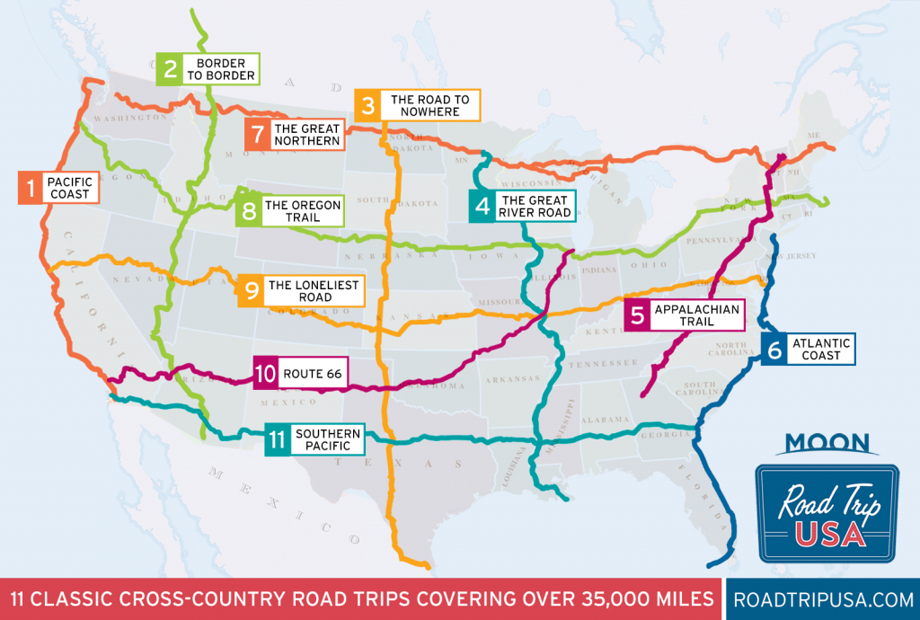 11 Epic Cross-Country American Road Trips | Road Trip Usa - Road Map From California To Texas