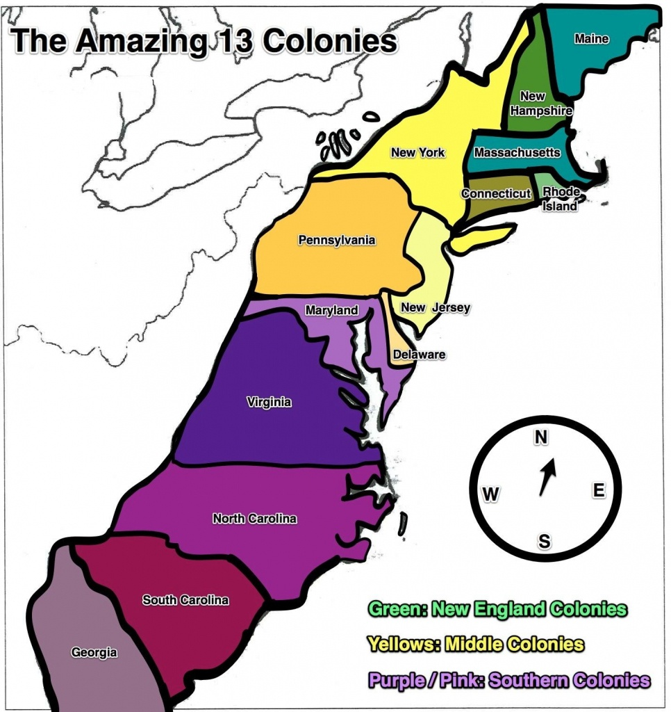 13 Colonies Map - Free Large Images   Home School   13 Colonies - Printable Map Of The 13 Colonies With Names