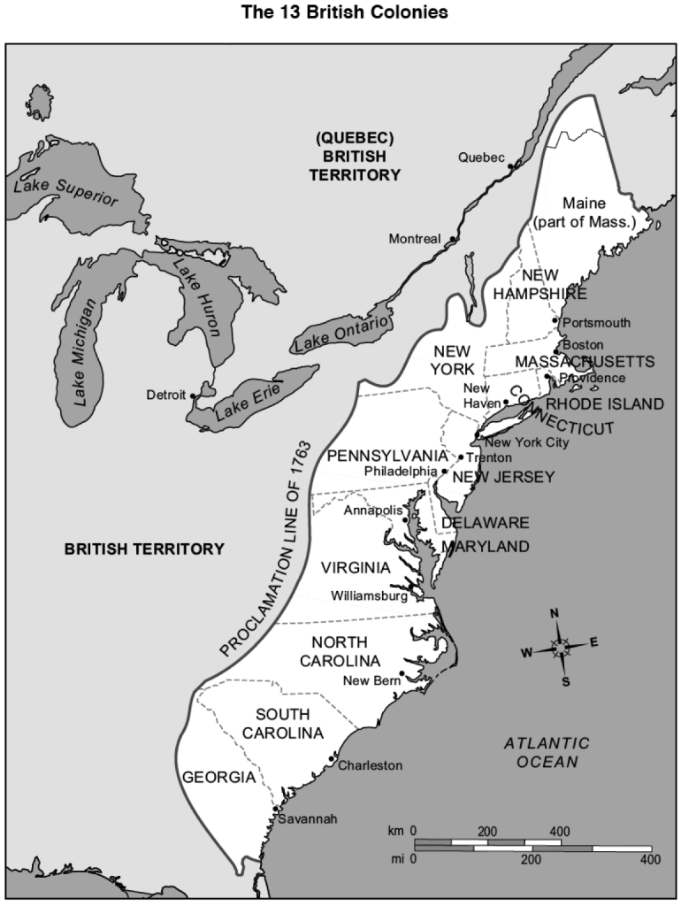 13 Colonies Map - Google Search   Colonial America   13 Colonies - Printable Map Of The 13 Colonies With Names