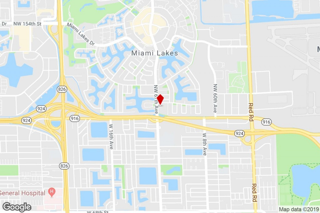13905 Nw 67 Ave, Miami Lakes, Fl, 33014 - Strip Center Property For - Miami Lakes Florida Map