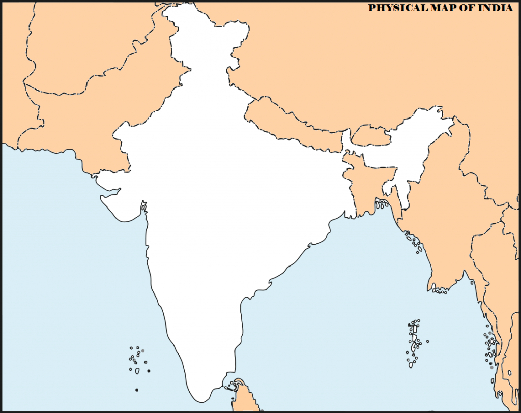 14 Important Maps Of India (Physical And Political Map) – Best Of India! - Physical Map Of India Outline Printable