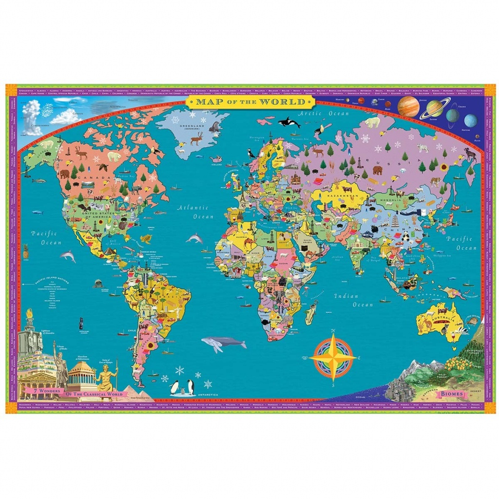 14964 1 1200Px Children S Map Of The World 9 - World Wide Maps - Children's Map Of The World Printable