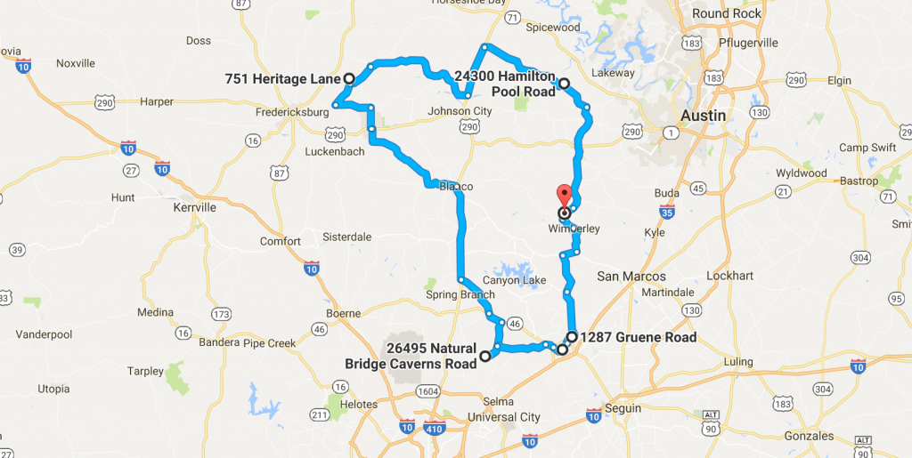 16 Amazing, Unforgettable Texas Road Trips To Take - Midnight Texas Map