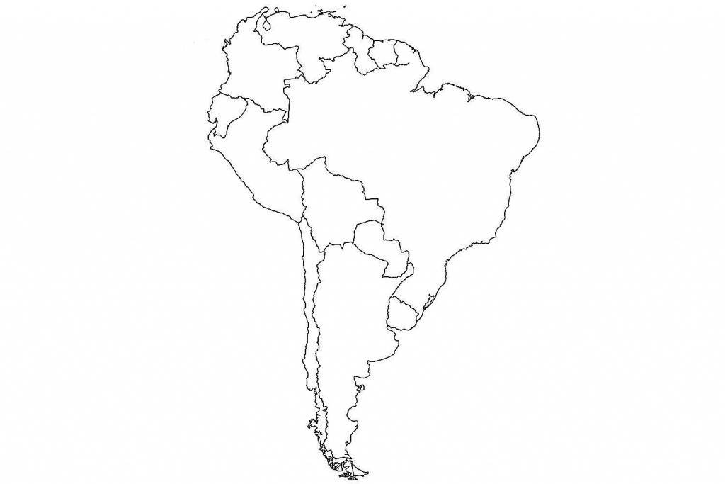 17 Blank Maps Of The United States And Other Countries - Printable Blank Map Of South America