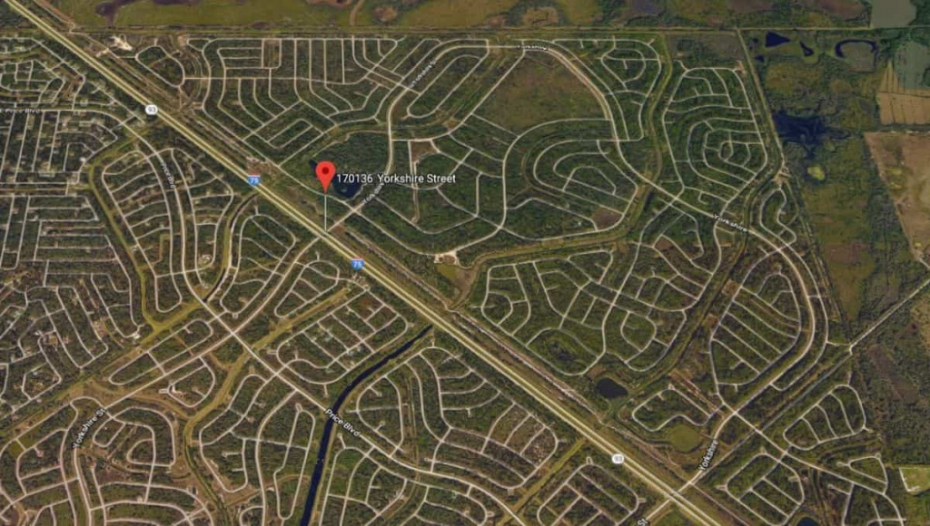 170136 Yorkshire Street, North Port, Fl 34288 | Terrenos Na Florida - North Port Florida Street Map