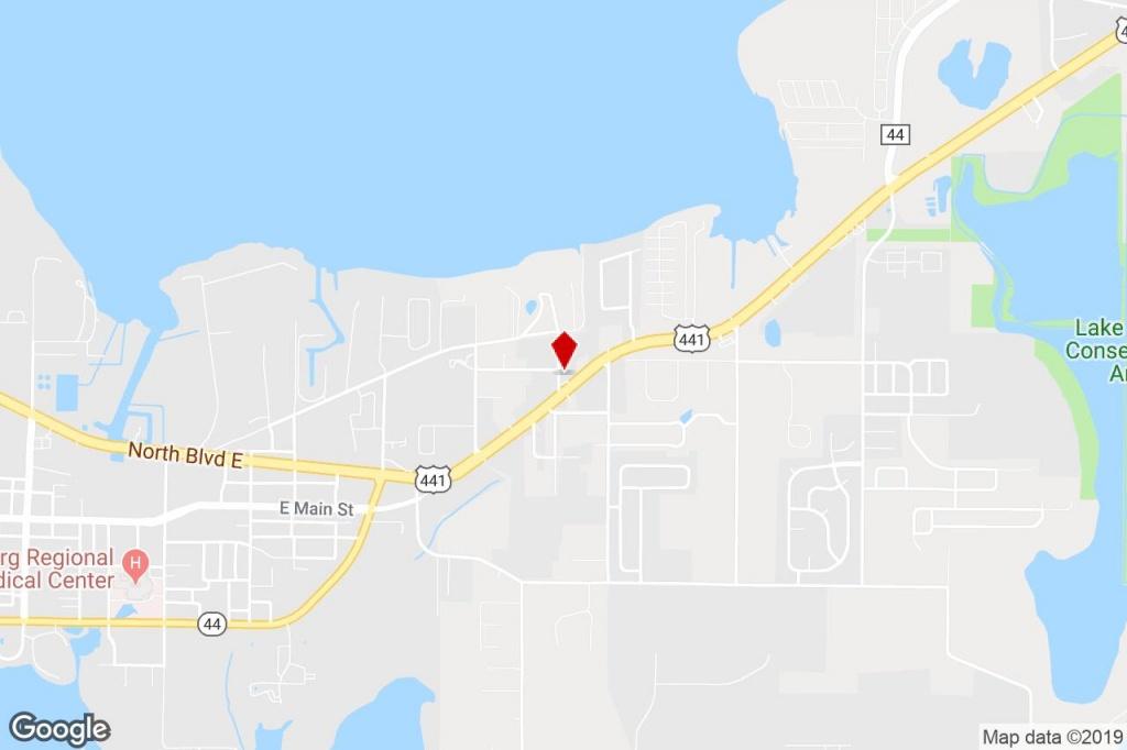 1736 E Main St, Leesburg, Fl, 34748 - Distribution Property For - Leesburg Florida Map