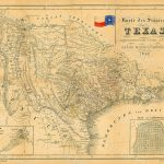 1849 Map Of Texas Old Texas Map, Texas, Map Of Texas, Vintage   Old Texas Map Wall Art