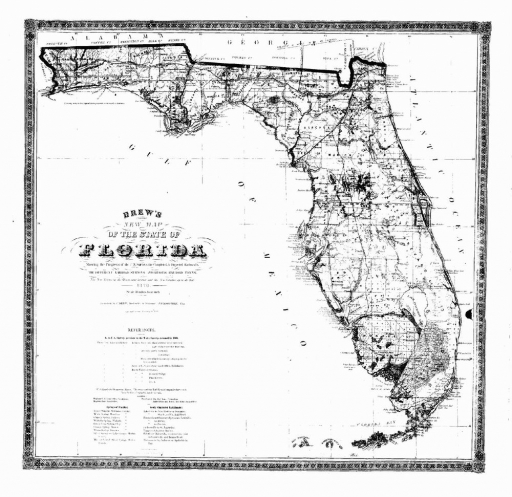 1870 Fl Map Port Salerno St John St Lucie Princeton Punta Gorda - Port St John Florida Map
