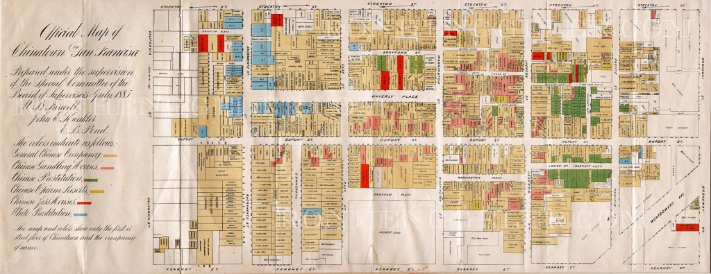 1880S Map Of Chinatown | Old San Francisco | San Francisco Map, San - Printable Map Of Chinatown San Francisco