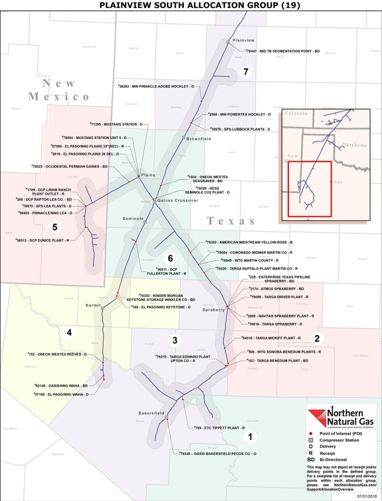 19 Plainview South - Oneok Pipeline Map Texas