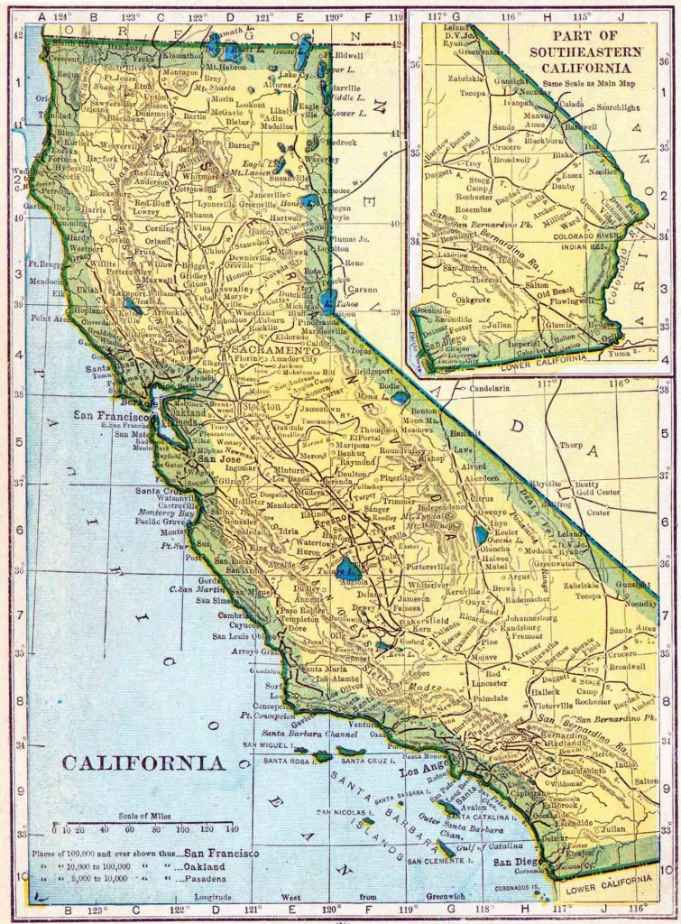1910 California Census Map | Access Genealogy - California Demographics Map