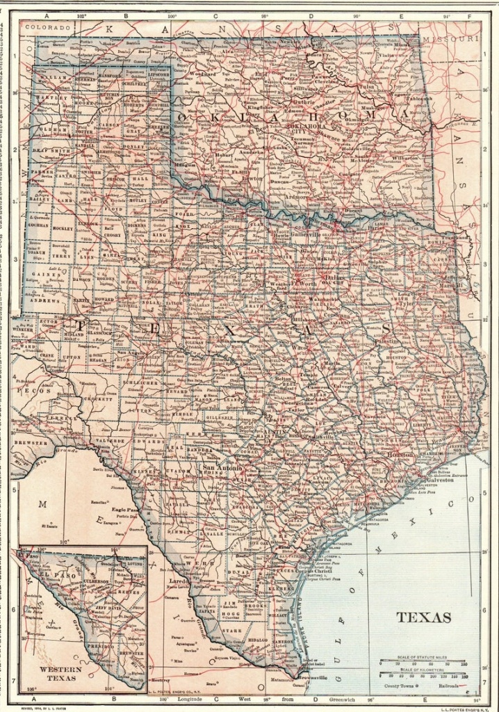 1914 Antique Texas Map Oklahoma Map State Map Of Oklahoma | Etsy - Antique Texas Map