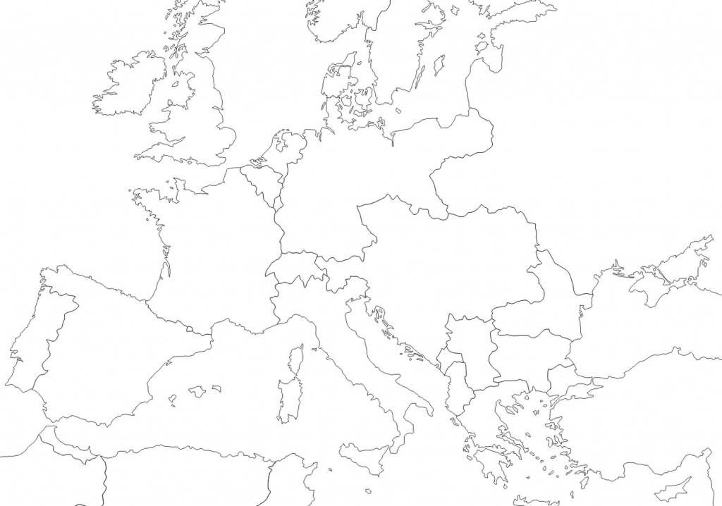 1914 - Outline Map Of Europe | Wwi In 2019 | Europe 1914, Map - Blank Map Of Europe 1914 Printable