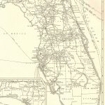 1927 Rare Size Antique Florida Map Vintage Map Of Florida Poster   Vintage Florida Map Poster