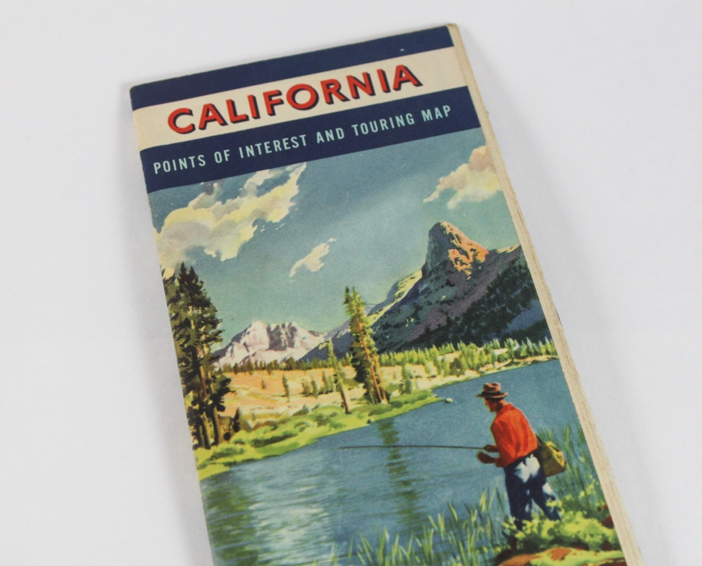 1950S California Road Map Book From Chevron Gas And Rpm Motor   Etsy - California Road Map Book