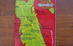 1960S Florida Attractions Official Travel Guide Map; Disney World   Lion Country Safari Florida Map