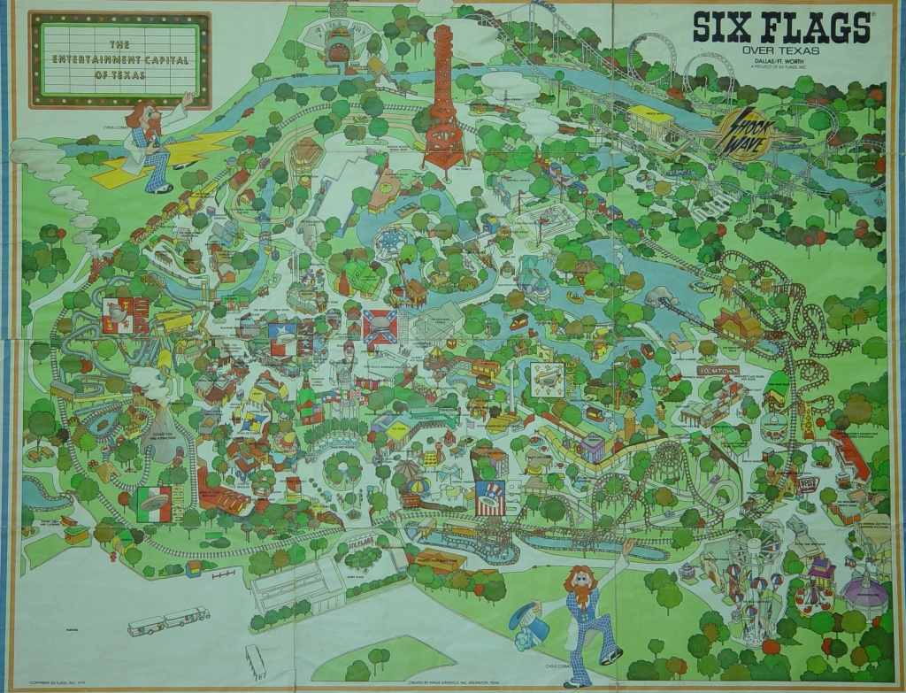 1970S Six Flags Over Texas Map. This Is How The Park Looked When I - Six Flags Over Texas Map