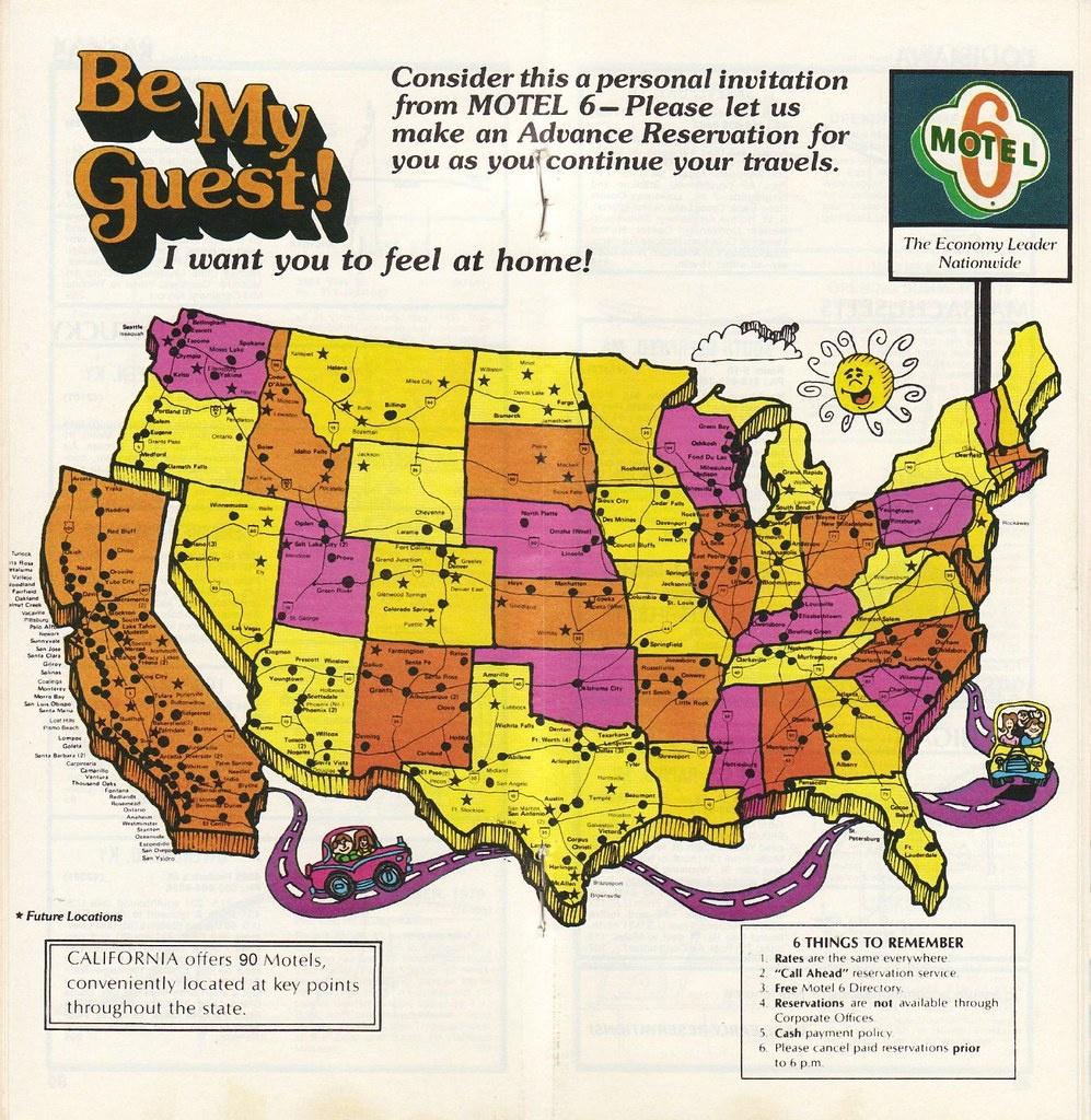 1979 Motel 6 Directory | Locations Map | Jasperdo | Flickr - Motel 6 Locations California Map