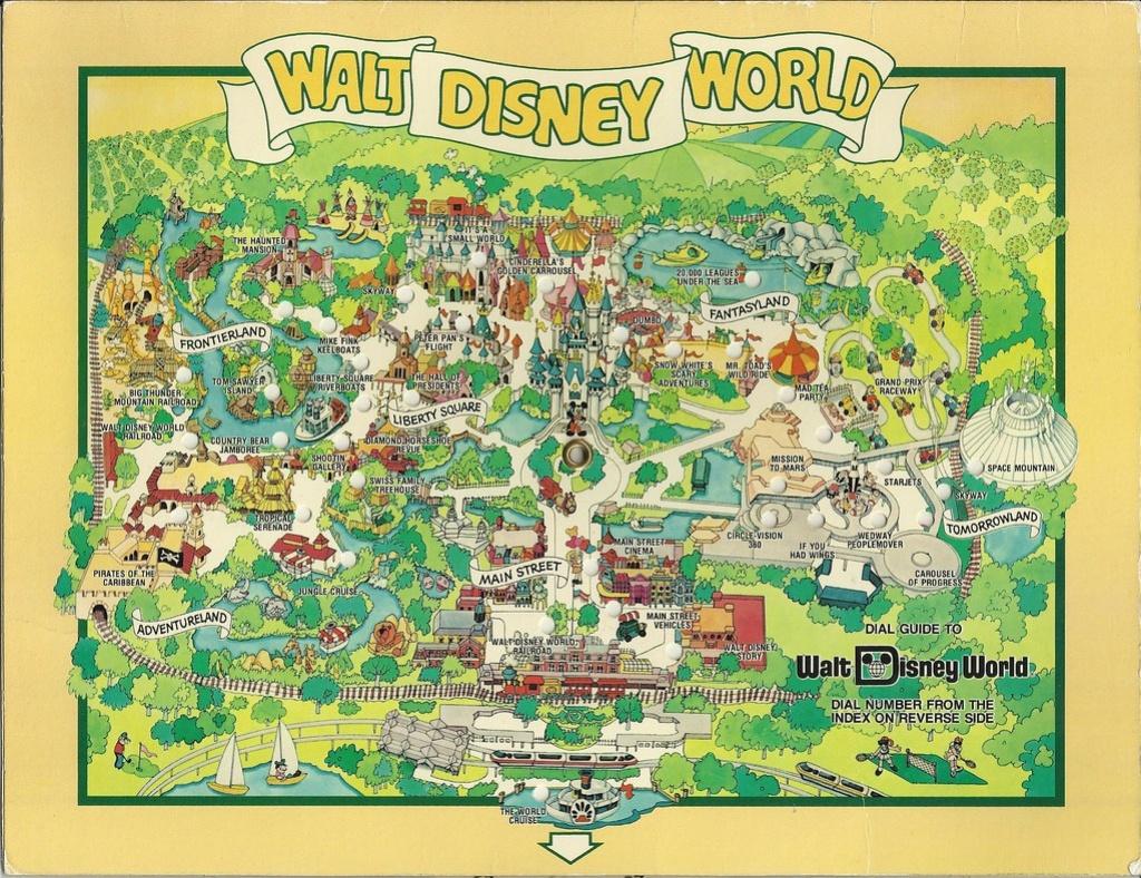 1980 Walt Disney World Dial Map   In August 1983 We Visited …   Flickr - Walt Disney Florida Map