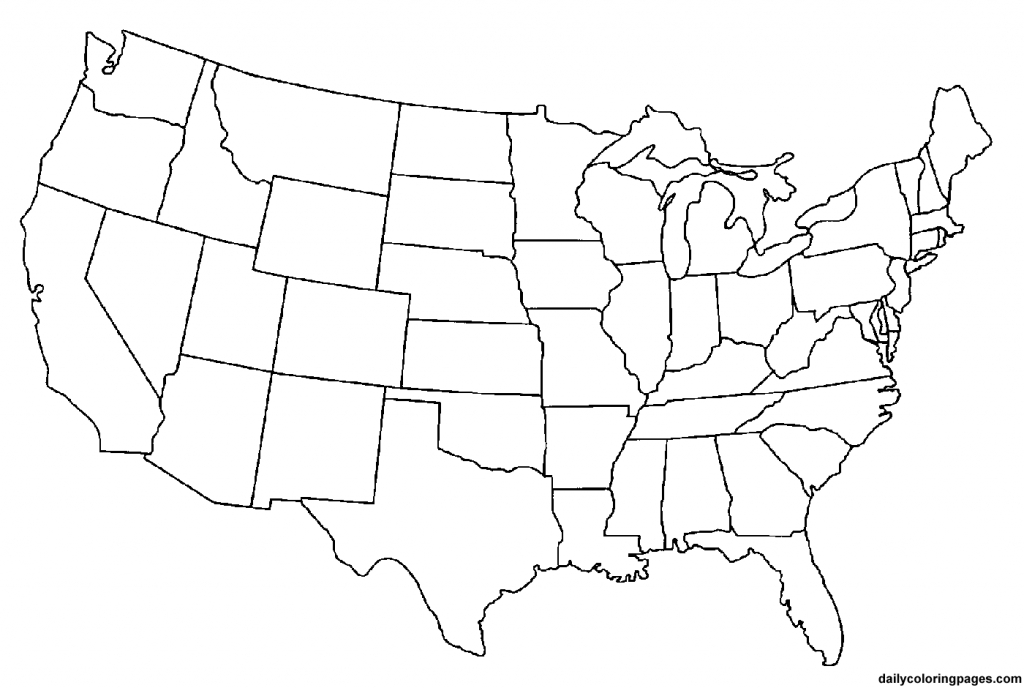 2 Page United States Map - Printable Blank Usa Map