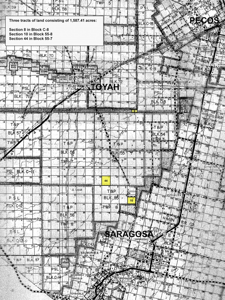 2% Undivided Interest In 3 Tracts   University Of Texas System - Reeves County Texas Plat Maps