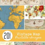20 Free Vintage Map Printable Images | Remodelaholic #art   Free Printable Maps