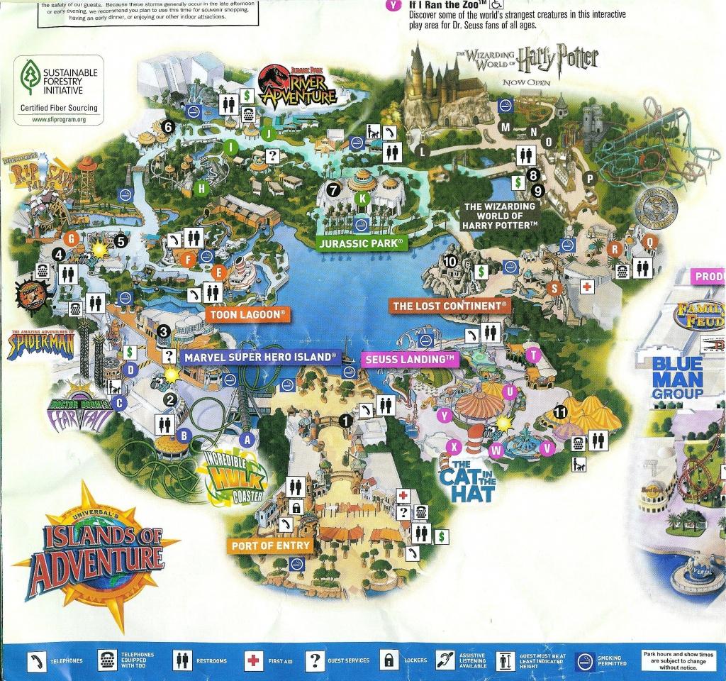 2010 2-Park Universal Orlando Map | Universal Trip | Universal - Universal Florida Park Map