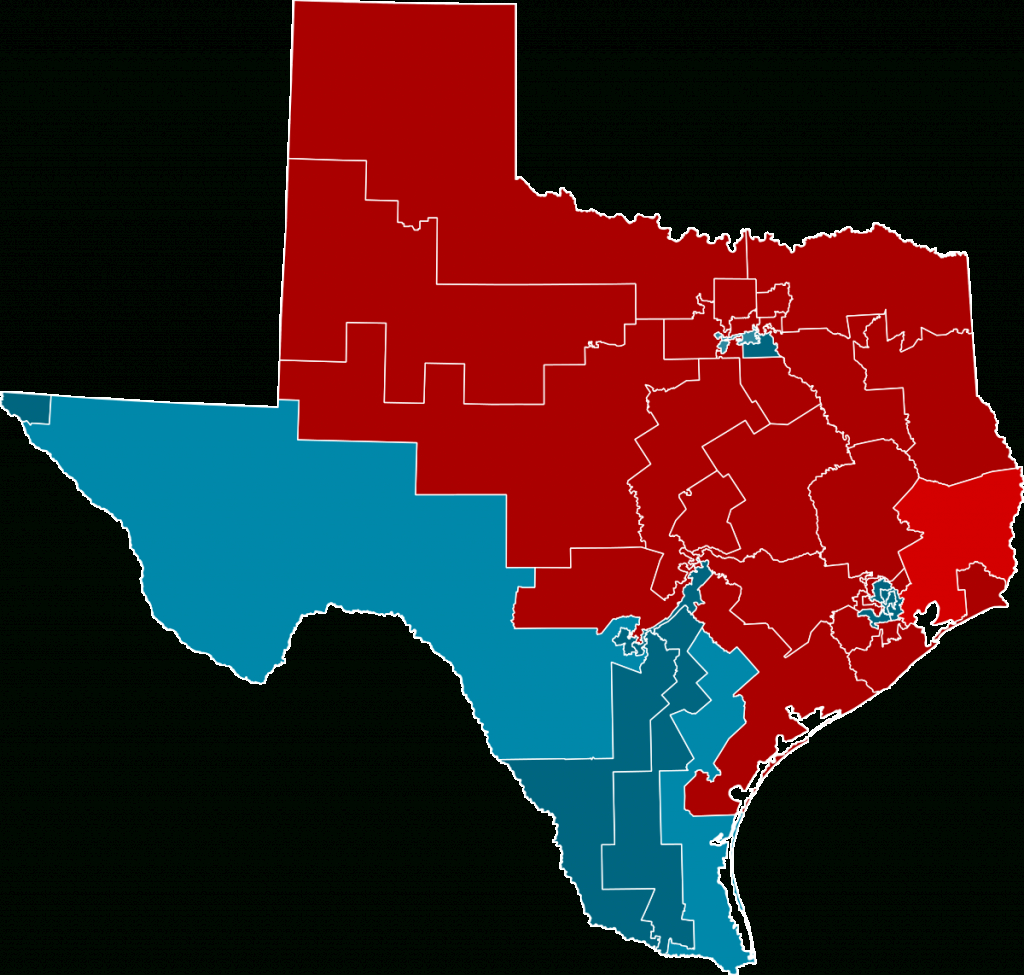 2012 United States House Of Representatives Elections In Texas - Texas State Senate Map