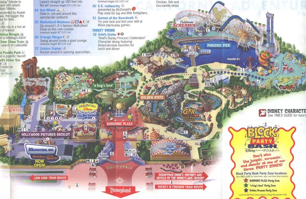 2013 Disneyland Adventure Park Map | Disney's California Adventure - Printable California Adventure Map