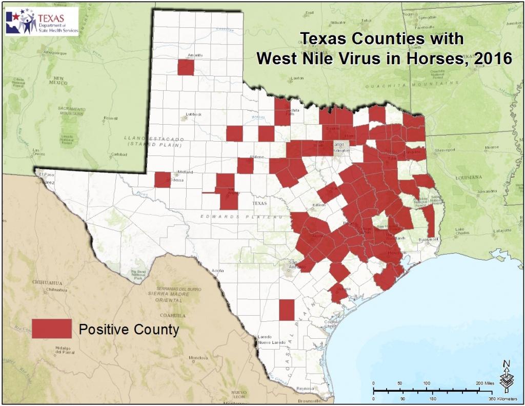 2016 Texas West Nile Virus Maps - Zika Virus Texas Map