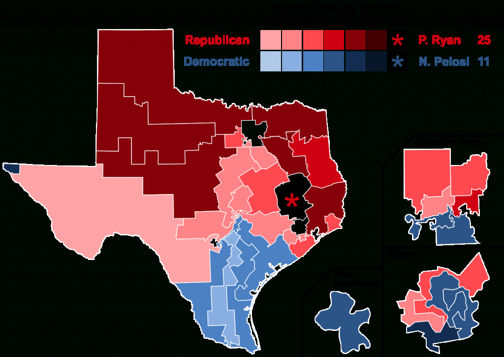 2016 United States House Of Representatives Elections In Texas - Texas Representatives Map