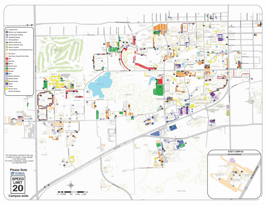 2018-19 Pdf Map - Transportation And Parking Services Transportation - Where Is Gainesville Florida On The Map