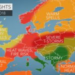 2018 Europe Summer Forecast: Intense Heat To Seize France To Germany   Heat Map Southern California