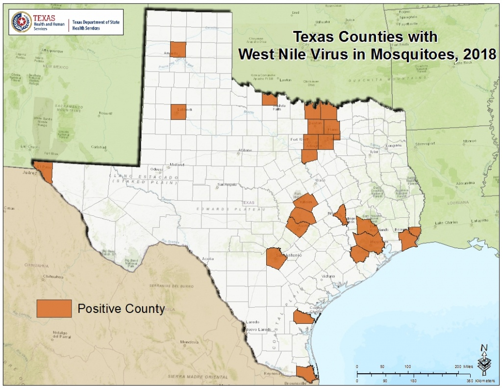 2018 Texas West Nile Virus Maps - Texas Zika Map