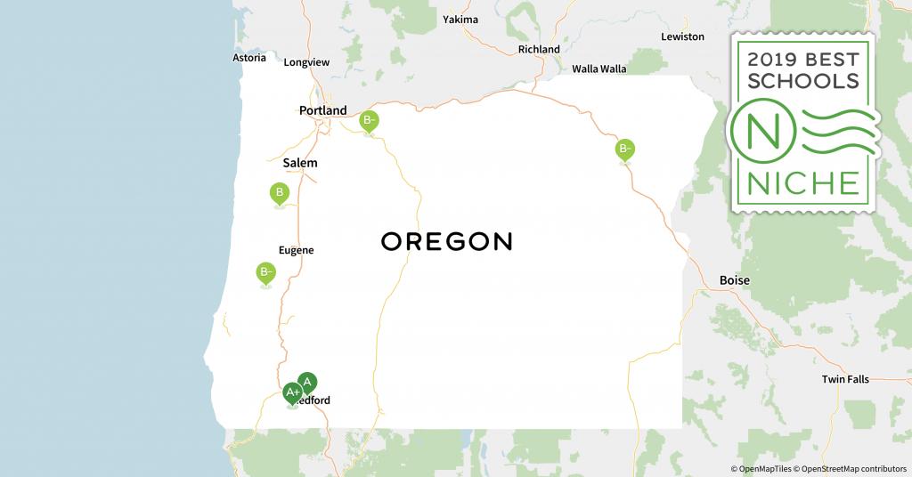 2019 Best School Districts In Oregon - Niche - California School District Rankings Map