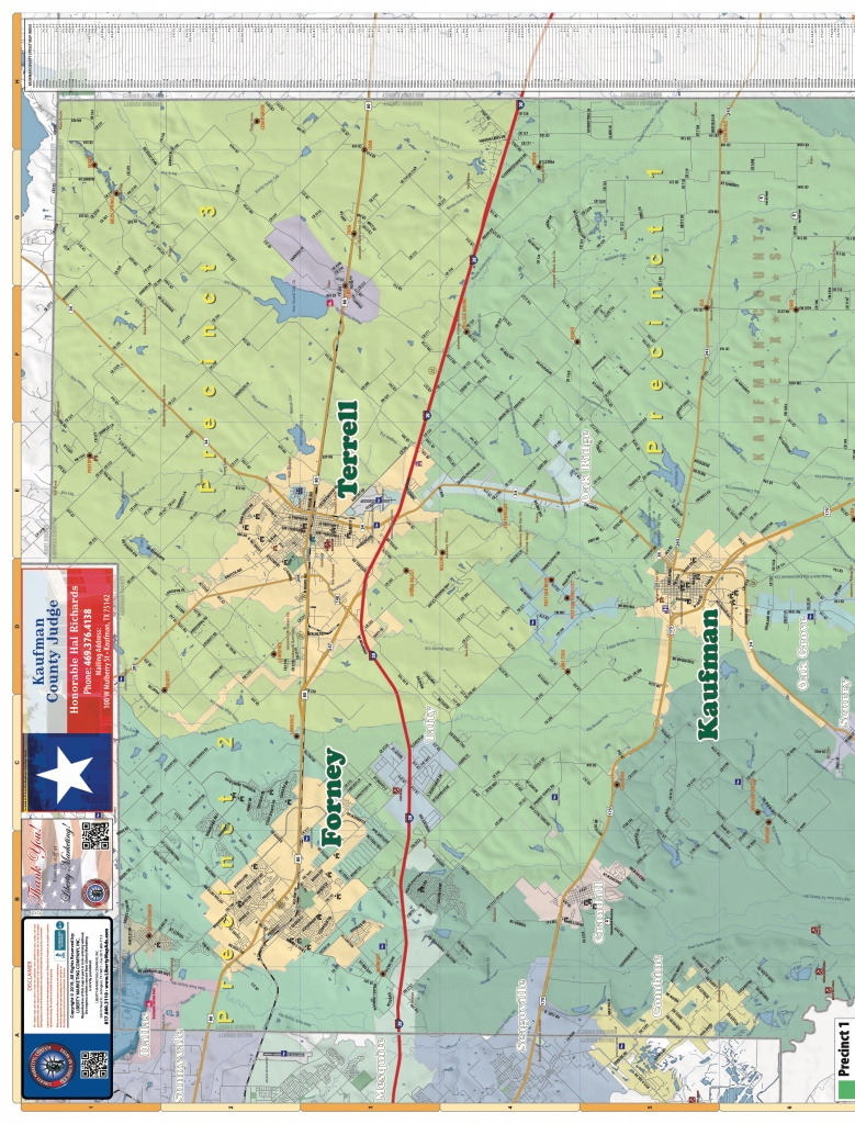 2019 Edition Map Of Kaufman County, Tx Pages 1 - 4 - Text Version - Kaufman Texas Map