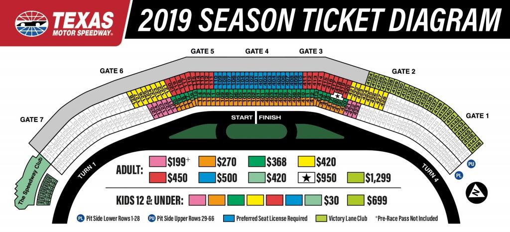 2019 Season Tickets To Texas Motor Speedway - Texas Motor Speedway Track Map