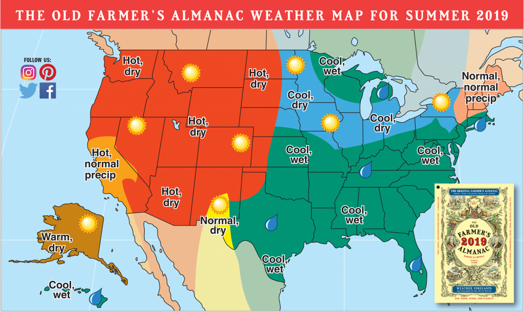 2019 Summer Forecast: Hotter Temps Out West, Rain For Others | The - Texas Weather Map Temps