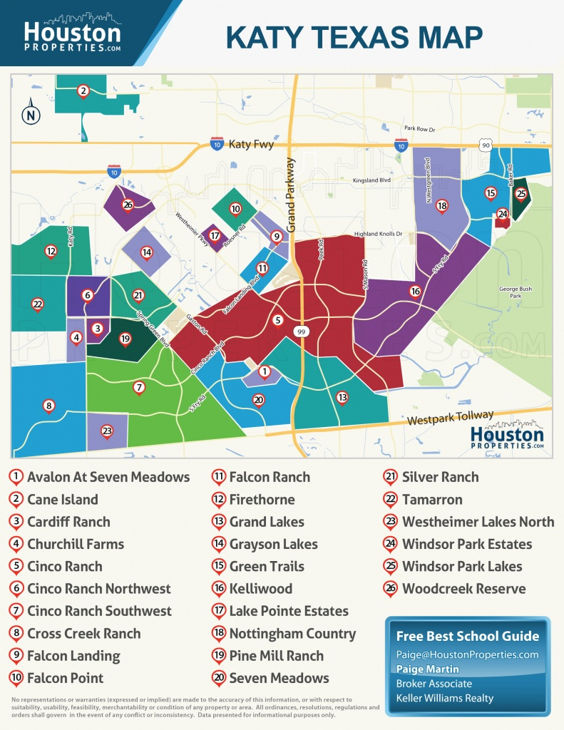 2019 Update: Guide To Katy Neighborhood, Real Estate & Homes For Sale - Katy Texas Map