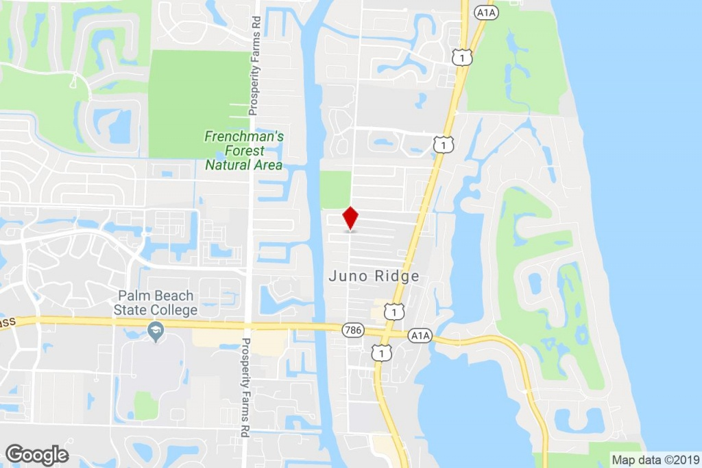 21 Juno Gardens Drive, North Palm Beach, Fl, 33408 - Mobile Home/rv - Juno Beach Florida Map
