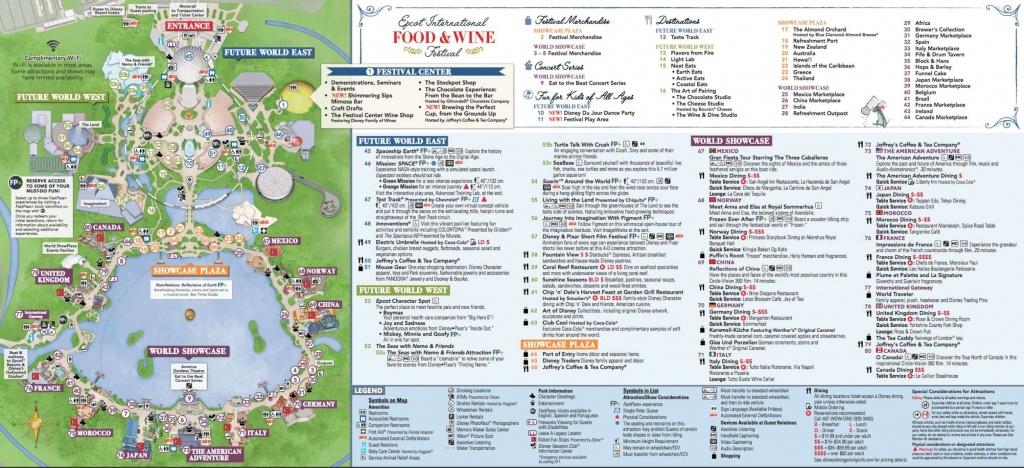 22 Printable Disney World Maps Collection – Cfpafirephoto - Printable Epcot Map