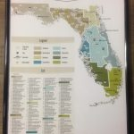 "24"" X 36"" Poster Map Of Florida State Parks. 