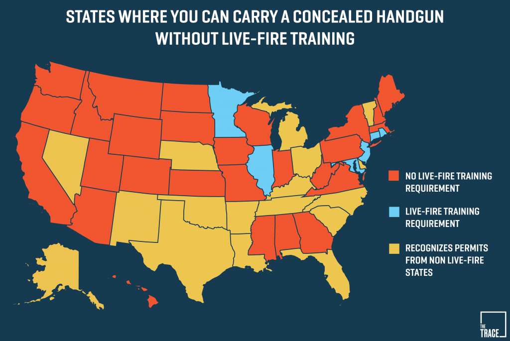 26 States Will Let You Carry A Concealed Gun Without Making Sure You - Texas Reciprocity Map