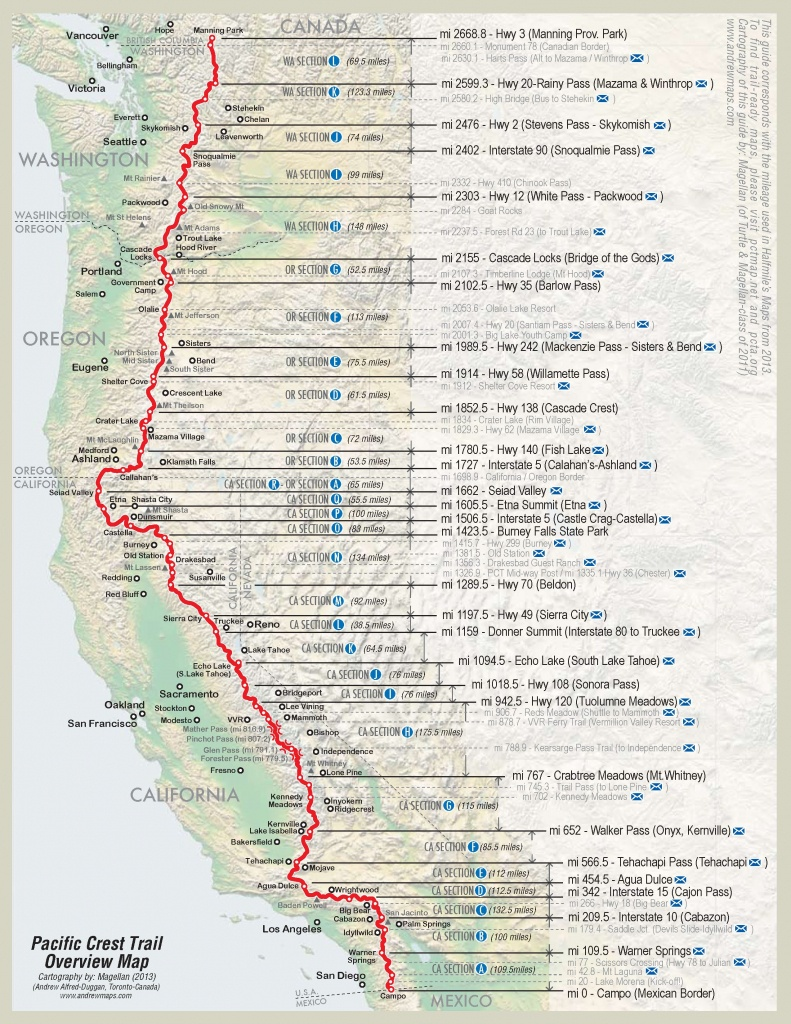 2600 Miles In 4 Minutes: A Time-Lapse Video Of Andy Davidhazy's - Pct Map California