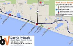 30A & Destin Beach Access   Destin Wheels Rentals In Destin, Fl   Destin Florida Map